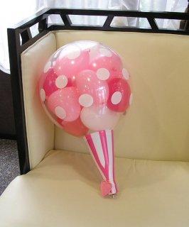 バルーンクラッカー ピンク 小サイズ30cm お祝い事に