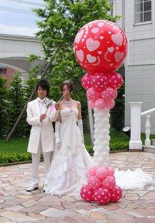 スパークバルーン特大 2段組高さ2.2m ハートballoon