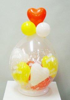 スパークバルーン卓上型 ハートmini balloon黄白