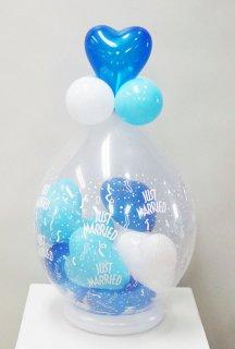 スパークバルーン卓上型 ハートmini balloon青白