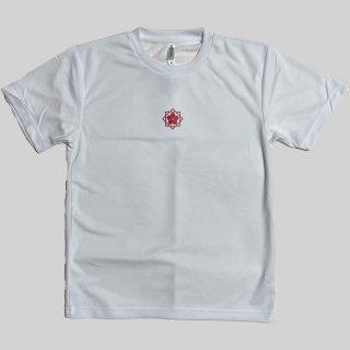 坂本龍馬家紋入 ドライTシャツ白