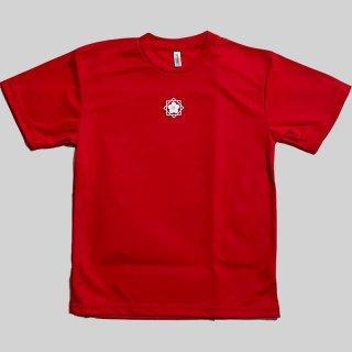 坂本龍馬家紋入 ドライTシャツ赤