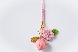 NO.1 ちりめん桜と桃鈴
