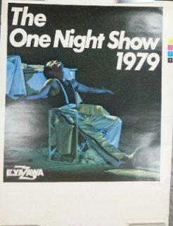 矢沢永吉 「THE ONE NIGHT SHOWツアー」 色校版・ポスター 1979年 館名無し 変型(A1弱) / 椅子に座っている