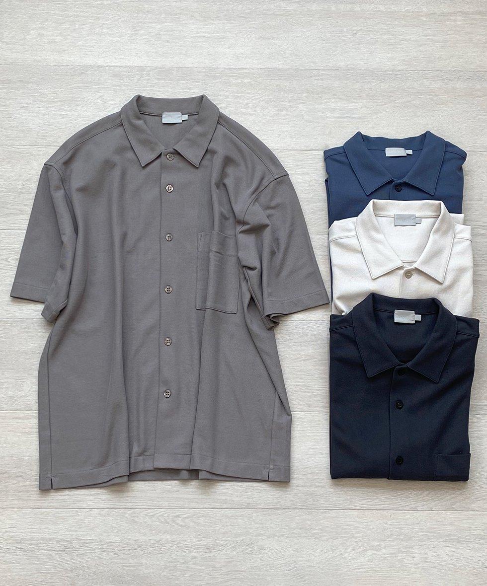 handvaerk/ハンドバーク ピケオープンカラーシャツ