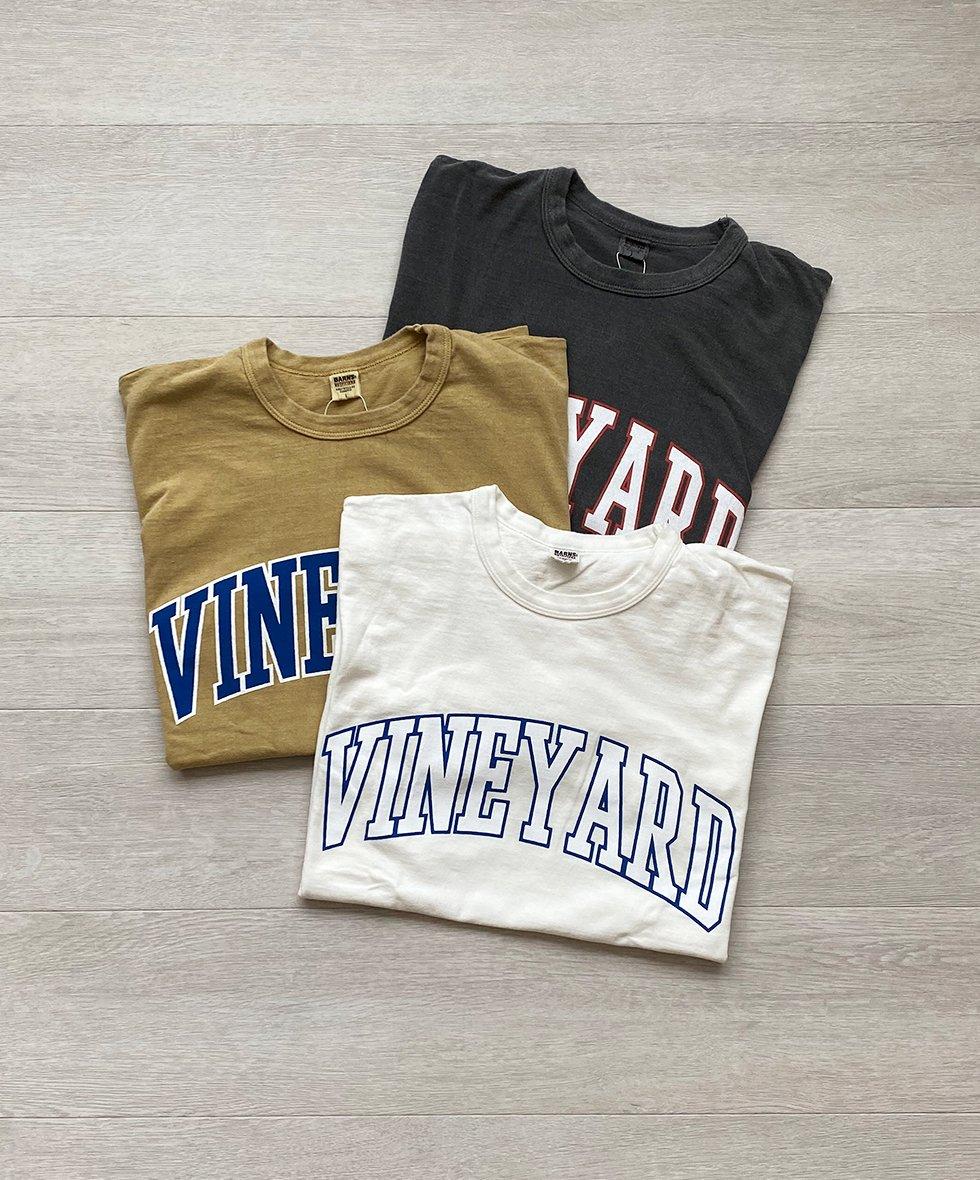 BARNS/バーンズ 〈VINEYARD〉VINTAGE-LIKE Tシャツ 【WORKS.別注】