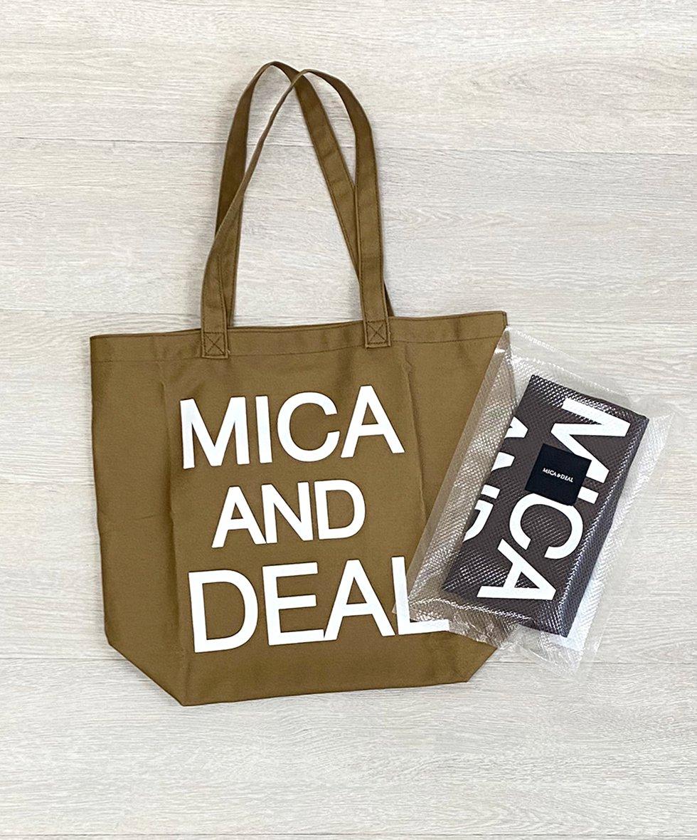MICA&DEAL/  MICAロゴコットンバッグ