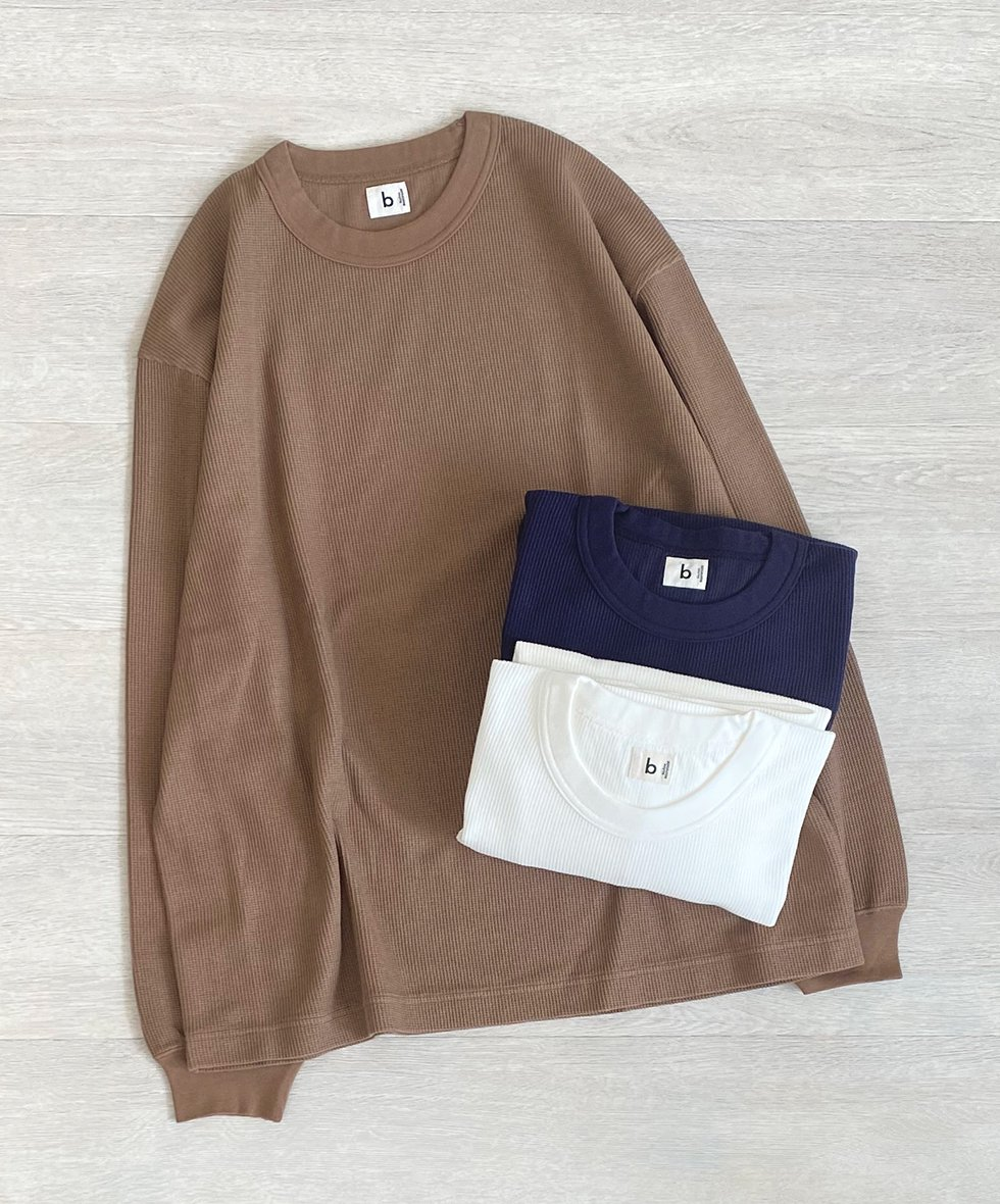 blurhms/  Rough&Smooth Thermal Crew-neck L/S