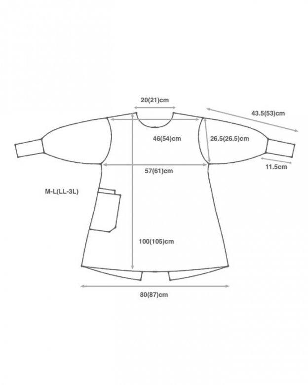 kapoc 1st. / linen cotton denim used wash