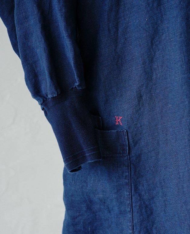 kapoc 2nd. / linen indigo dye