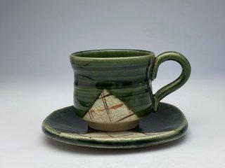 織部格子コーヒーカップ