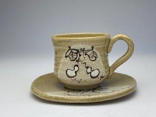 黄瀬戸ひさごコーヒーカップ