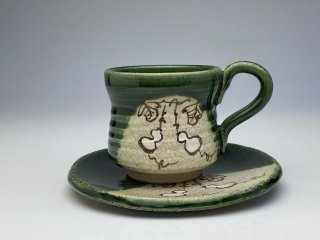 織部ひさごコーヒーカップ