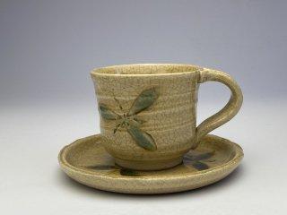 黄瀬戸花コーヒーカップ