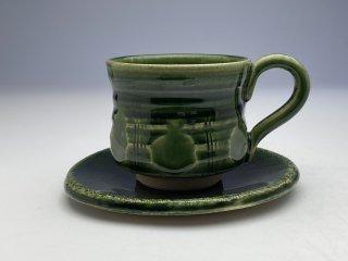 織部くし目コーヒーカップ