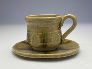 黄瀬戸くし目コーヒーカップ