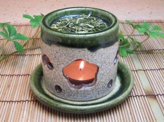 茶香炉(織部)