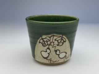 織部蕎麦猪口(ひさご)
