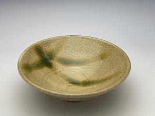 黄瀬戸小鉢(松葉)