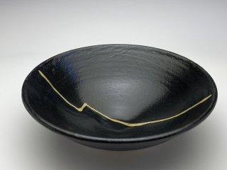 黒織部小鉢(稲妻)