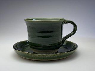 たくさん飲める大きめ織部コーヒーカップ