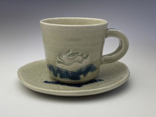 御深井うさぎコーヒーカップ