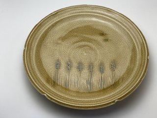 織部大皿(麦)