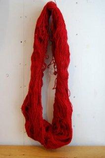 絨毯用羊毛赤色綛400g KR-1-�