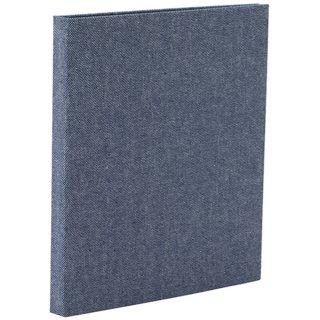 ナカバヤシcotto.(コット)黒台紙フォトアルバム(ハーフサイズ80枚収納)ブルー A-COPLH-800-B