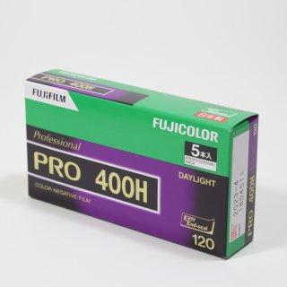 【ブローニー120カラーネガフィルム】FUJIFILM富士フイルムPRO 400H/ISO400/12枚撮/5本パック