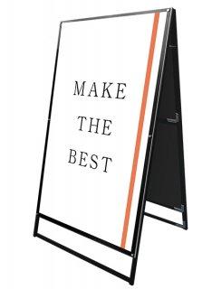 ブラックポスター用スタンド看板 A0両面ブラック