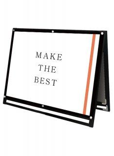 ブラックポスター用スタンド看板 A0横ロウ両面ブラック