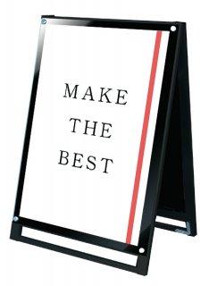 ブラックポスター用スタンド看板 A1ロウ両面ブラック