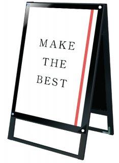 ブラックポスター用スタンド看板 A1両面ブラック