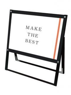 ブラックポスター用スタンド看板 A1横片面ブラック