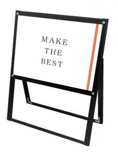 ブラックポスター用スタンド看板 A2横片面ブラック