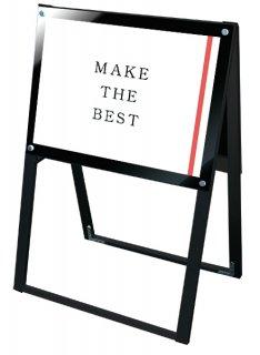 ブラックポスター用スタンド看板 A2横両面ブラック
