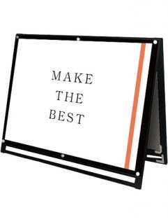 ブラックポスター用スタンド看板マグネジ A0横ロウ両面ブラック