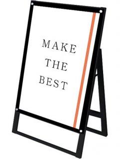 ブラックポスター用スタンド看板マグネジ A1片面ブラック