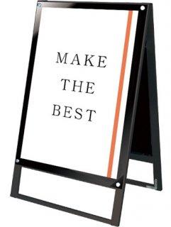 ブラックポスター用スタンド看板マグネジ A1両面ブラック