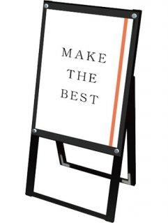 ブラックポスター用スタンド看板マグネジ A2片面ブラック