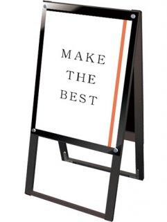 ブラックポスター用スタンド看板マグネジ A2両面ブラック