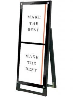 ブラックポスター用スタンド看板マグネジ A3縦縦片面ブラック