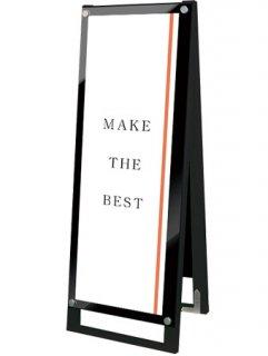 ブラックポスター用スタンド看板マグネジ A3縦縦両面ブラック