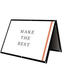 ブラックポスター用スタンド看板マグネジ B0横ロウ両面ブラック