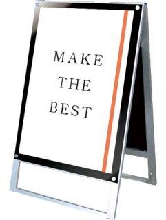 ポスター用スタンド看板マグネジ A1両面ブラック