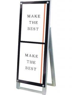 ポスター用スタンド看板マグネジ A3縦縦片面ブラック