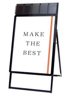 ポスターグリップスタンド看板パンフレットケース付(屋内用) A1片面ブラック