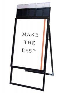 ポスターグリップスタンド看板パンフレットケース付(屋外用) A1片面ブラック