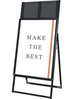 ポスターグリップスタンド看板カタログケース付(屋内用) A1片面ブラック